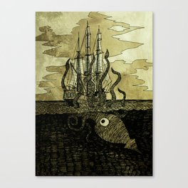 Kraken attack/hug Canvas Print