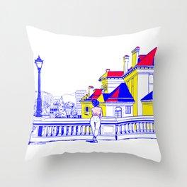 Romania Throw Pillow