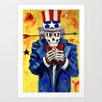 Uncle SAM P.O.W Art Print