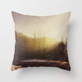 Winter At the River Throw Pillow