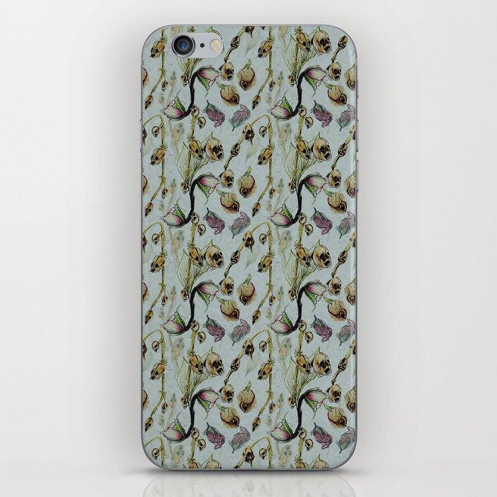 Dead Rose & Snapdragon Pattern iPhone Skin