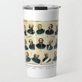 Union Commanders of The Civil War Travel Mug