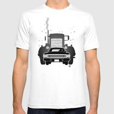 Steven Spielberg's DUEL White SMALL Mens Fitted Tee