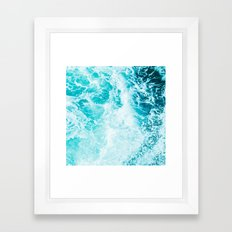 Perfect Sea Waves Framed Art Print