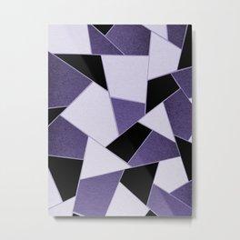 Ultra Violet Geometric Glam #1 #geo #decor #art #society6 Metal Print