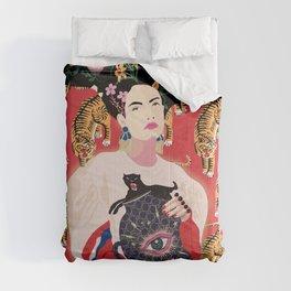 Let your mind blossom - Fashion portrait Comforters