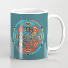 Round geometric design Mug