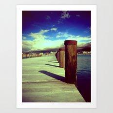What's Up Dock?  Art Print