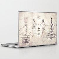 tarot Laptop & iPad Skins featuring Tarot: V - The Hierophant by Jæn ∞