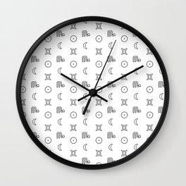 Gemini/Scorpio + Sun/Moon Zodiac Glyphs Wall Clock
