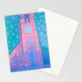 Church tower at Domburg by Piet Mondrian, 1911 Stationery Cards