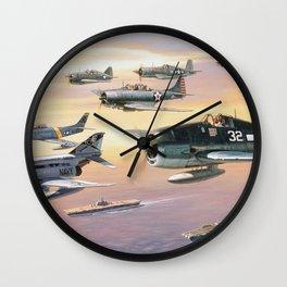 Navy Historic Squad Wall Clock