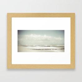 Place of silence - Winter Baltic Sea Serie Framed Art Print