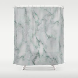 Ariana verde - smoky teal marble Shower Curtain