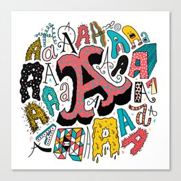 A's Canvas Print