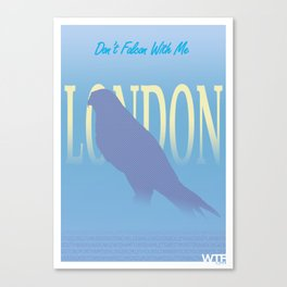London - Don't Falcon With Me Canvas Print