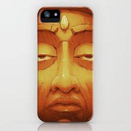 Buddha II Gold iPhone Case