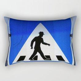 Well Dressed Man Crossing Rectangular Pillow