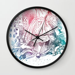 Alice Cards Wall Clock