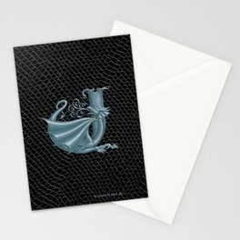 """Dragon Letter J, from """"Dracoserific"""", a font full of Dragons Stationery Cards"""