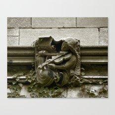 Musician Gargoyle, University of Chicago v.2 Canvas Print