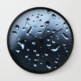 Raindrops on a window Wall Clock