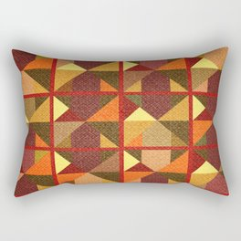Colored abstraction in geometry Rectangular Pillow