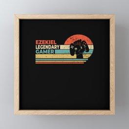 Ezekiel Legendary Gamer Personalized Gift Framed Mini Art Print