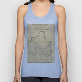 Vintage Map of The Grand Canyon (1908) Unisex Tank Top