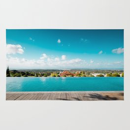smimming pool in paradise Rug