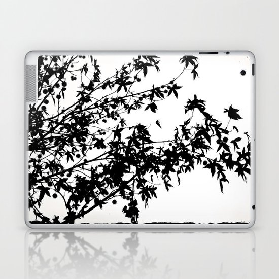 black on white Laptop & iPad Skin