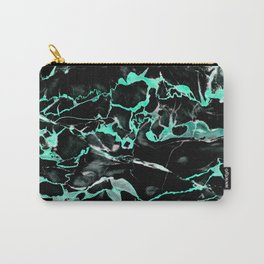Teal & black marble Carry-All Pouch