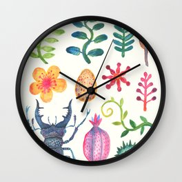 Along the Forest Road Wall Clock