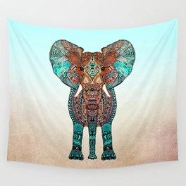 BOHO SUMMER ELEPHANT Wall Tapestry
