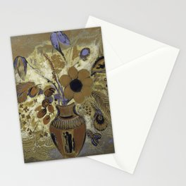 Etruscan Vase with Flowers - Odilon Redon Stationery Cards
