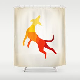 Abstract dog Shower Curtain
