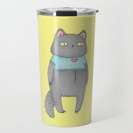 Happy Caturday Travel Mug