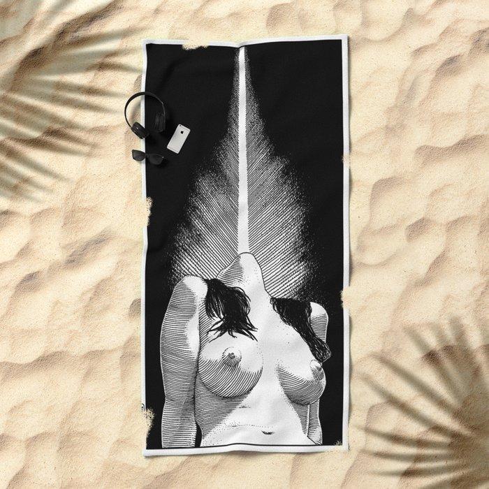 asc 528 - Le phare (Enlightening the world) Beach Towel