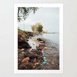 56 lighters on Lake Erie Art Print