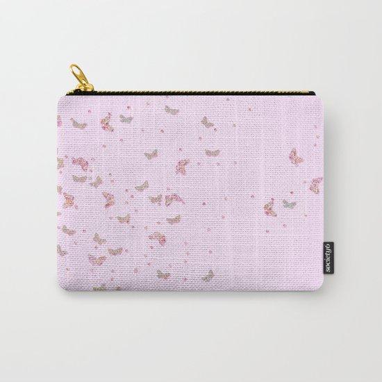 Butterflies diamonds and glitter II- Pink Glitter butterfly pattern Carry-All Pouch