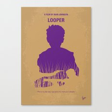 No636 My Looper minimal movie poster Canvas Print