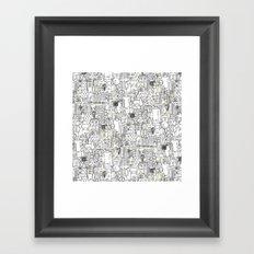 kitchen town ivory Framed Art Print