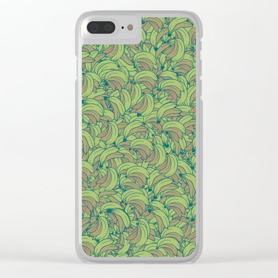Plenty of Bananas - Green Clear iPhone Case