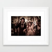 zombies Framed Art Prints featuring Zombies! by Mickey Martin Photography