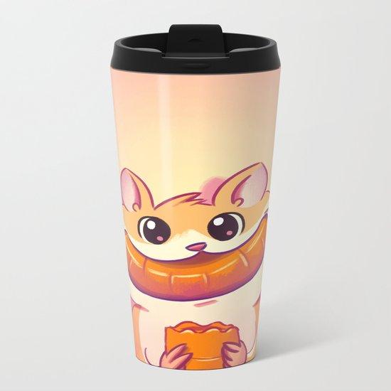 Hamster Happiness Metal Travel Mug