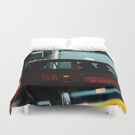 Taxicab Driver (Color) Duvet Cover
