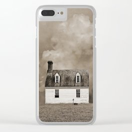 House in Sepia Brown Clear iPhone Case