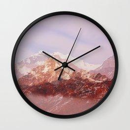 Khopra Mountains Wall Clock