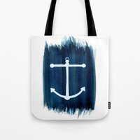 anchor Tote Bags featuring Anchor by Bridget Davidson