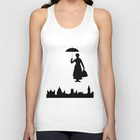 mary poppins Tank Tops featuring Mary Poppins by TheWonderlander